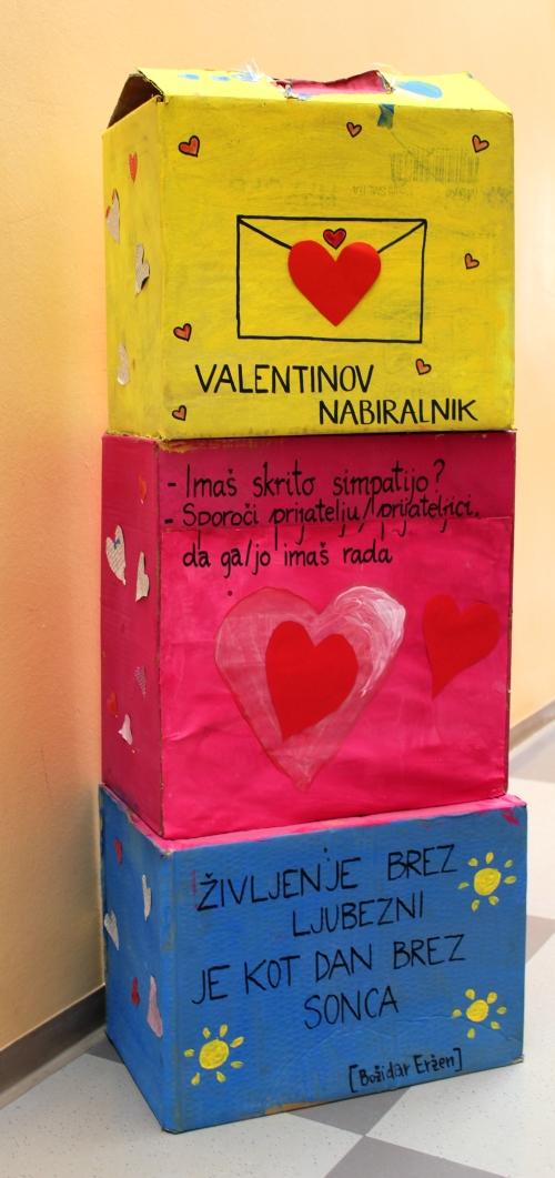 Obeleženje valentinovega na OŠ Dobravlje